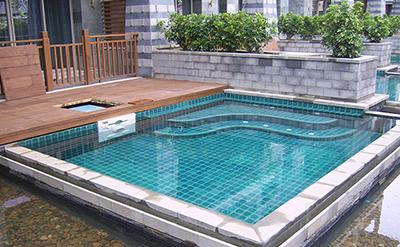 三亚石梅湾艾美度假酒店别墅SPA型泳池