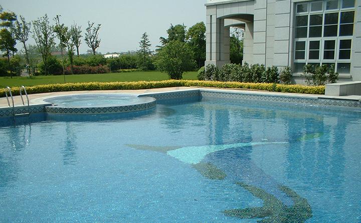 上海紫园19#豪宅泳池