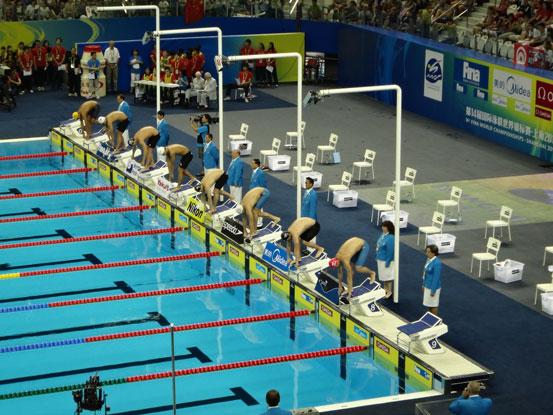 上海东方体育中心游泳馆比赛泳池